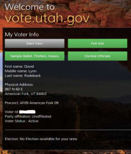 Utah voter registration - unaffiliated