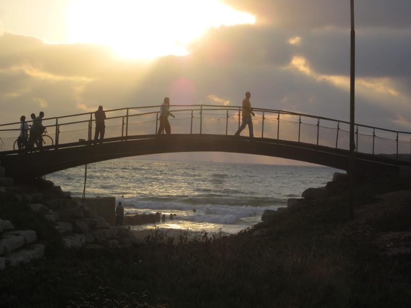 Mediterranean bridge in Old Yaffa