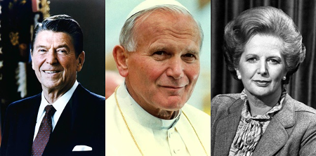 President Ronald Reagan, Pope John Paul II, Prime Minister Margaret Thatcher