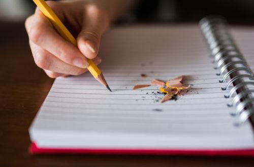 hand pencil paper
