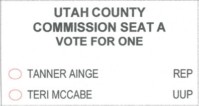 2018 ballot - county commission A