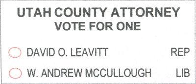 2018 ballot - county attorney