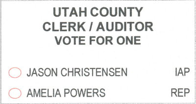 2018 ballot - county clerk/auditor