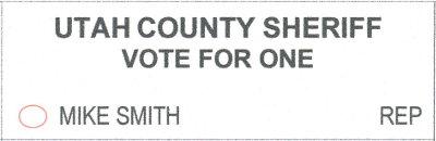 2018 ballot - sheriff