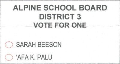 2018 ballot - Alpine School Board