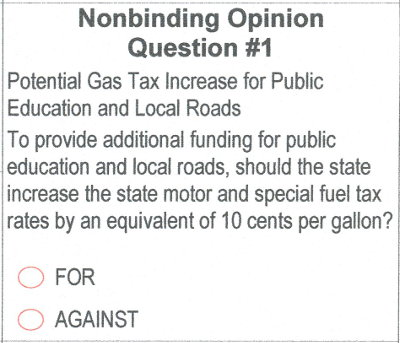 2018 ballot - nonbinding question 1
