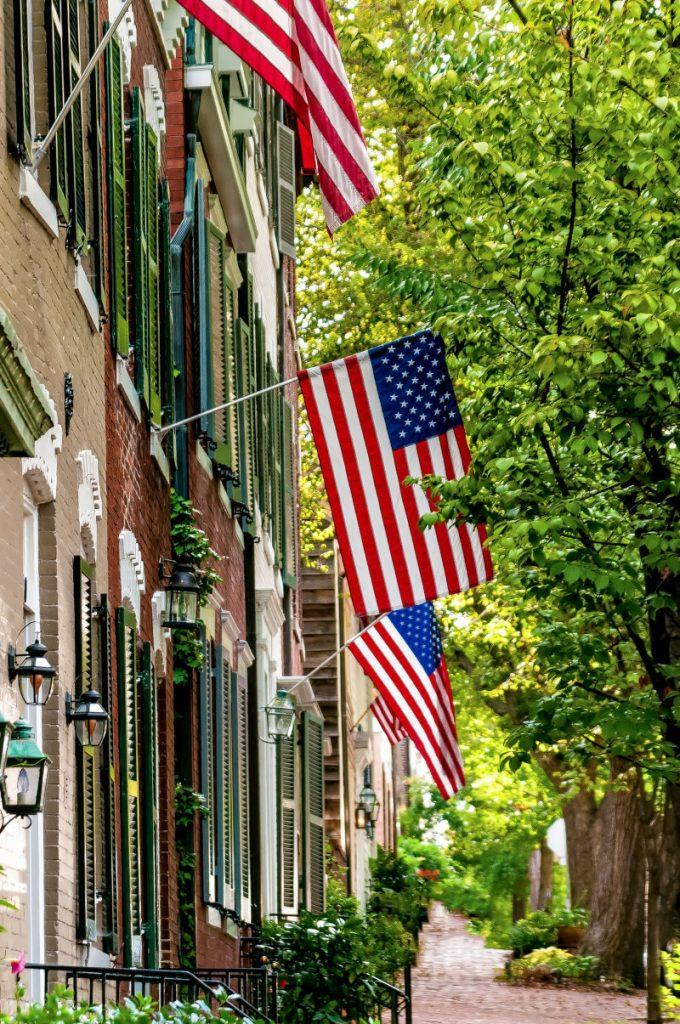 flags in Alexandria, Virginia
