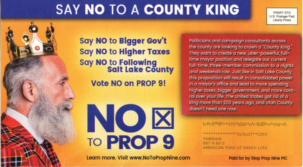opposition flier: county king