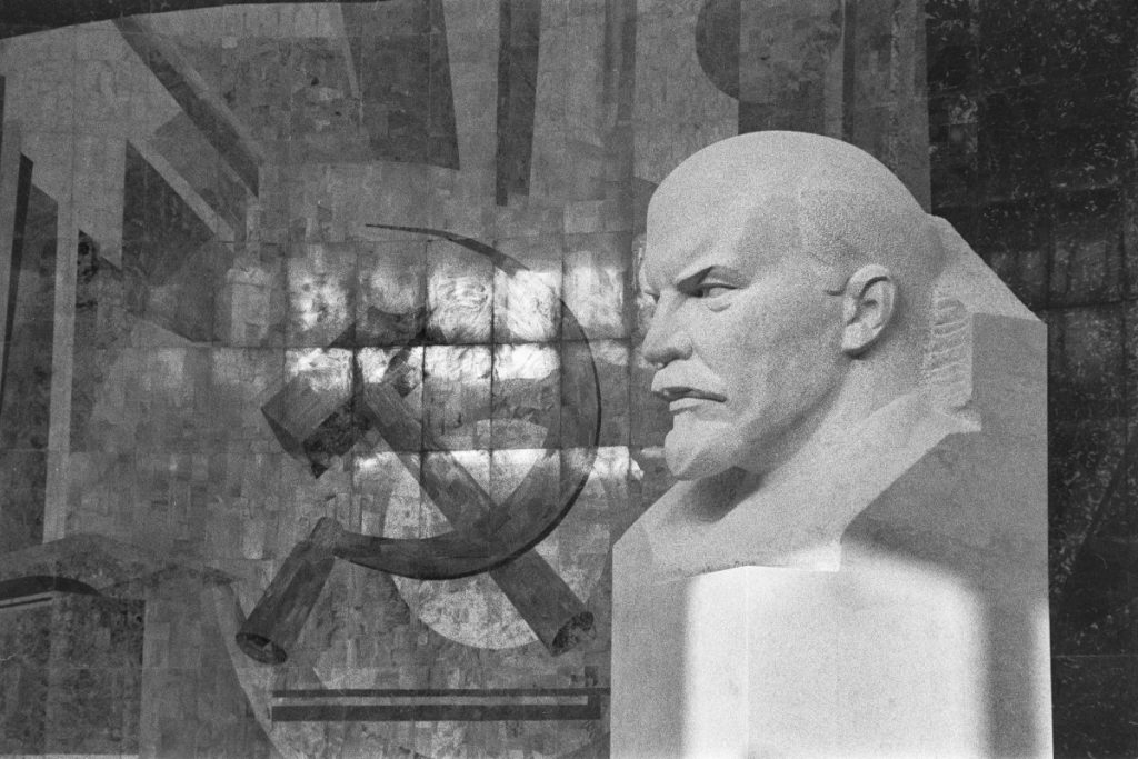 Lenin and hammer and sickle